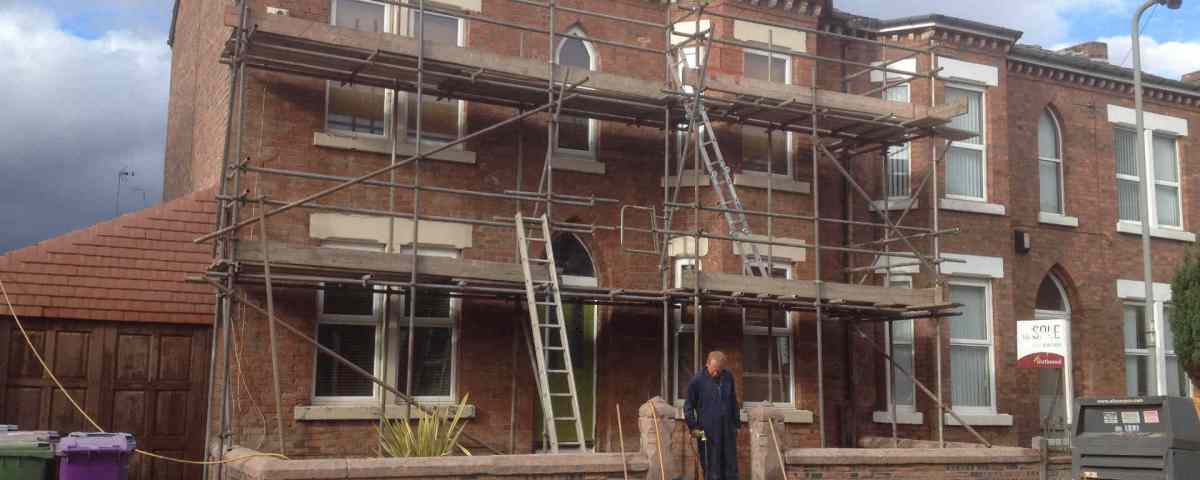 Exterior Brick Cleaning And Paint Removal Sandblasting Wirral Liverpool Manchester Uk