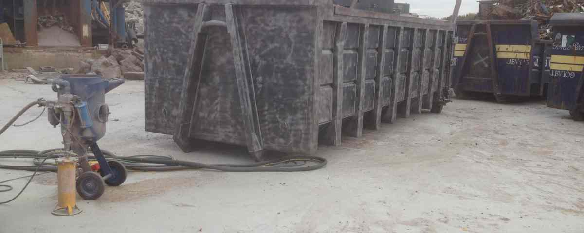 Steel / Metal Skip sandblasted paint and rust removal in Widnes Liverpool