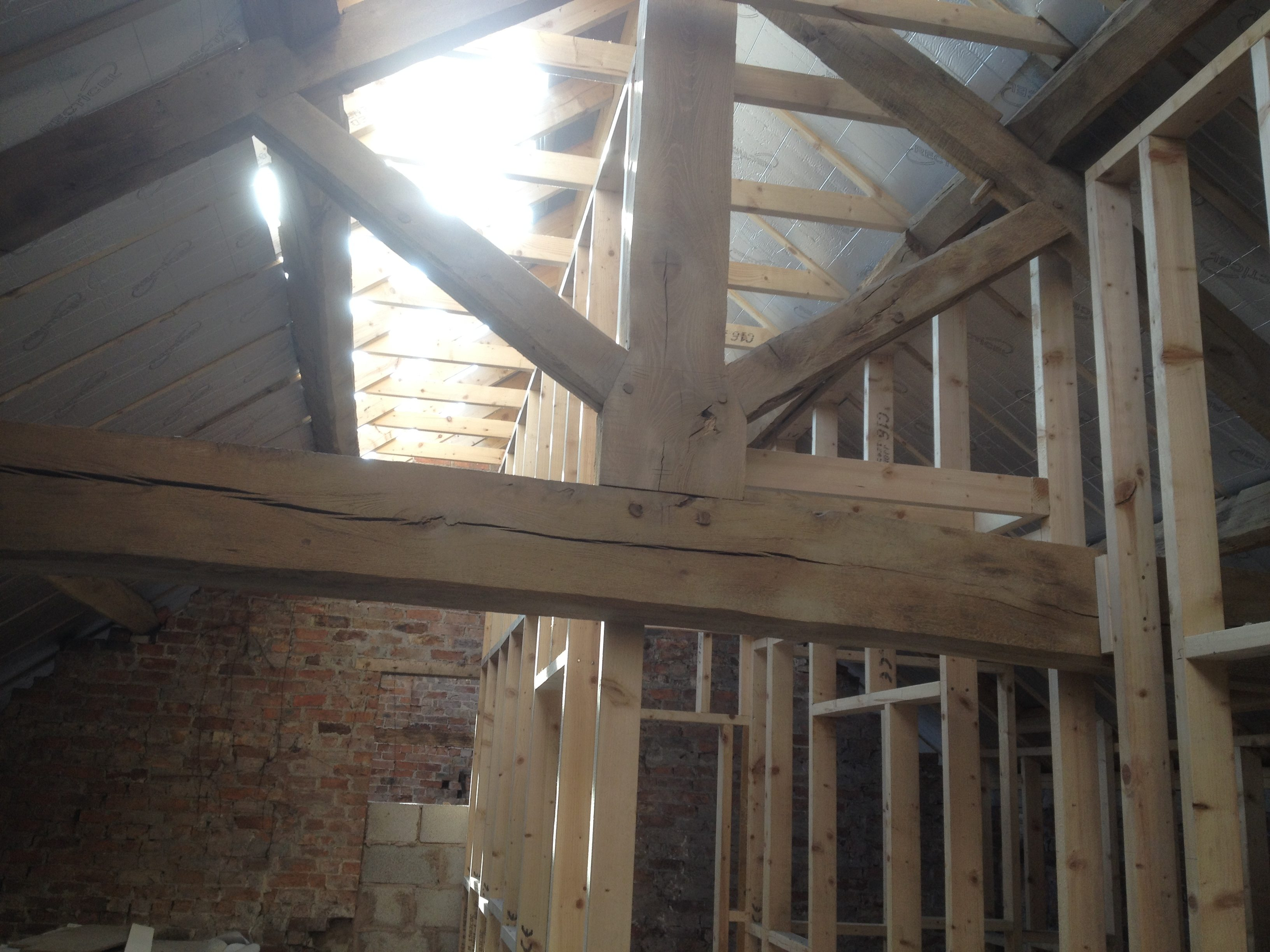 Wooden beams cleaning services Wirral